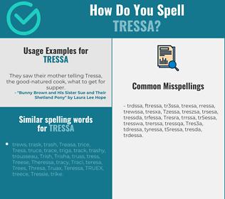 Correct spelling for Tressa