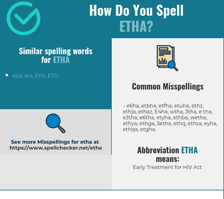 Correct spelling for Etha