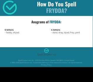 Correct spelling for Frydda