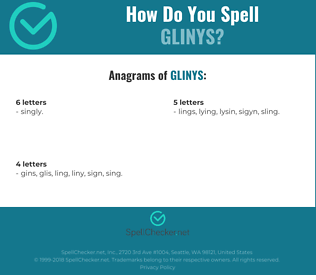 Correct spelling for Glinys