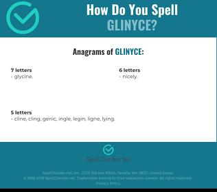Correct spelling for Glinyce