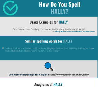 Correct spelling for Hally