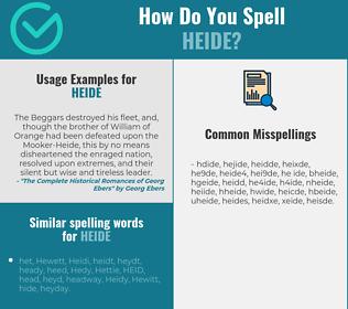 Correct spelling for Heide