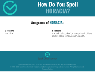 Correct spelling for Horacia