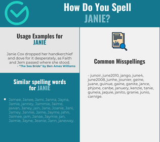 Correct spelling for Janie