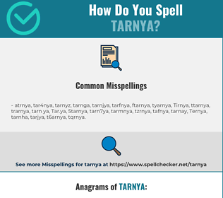 Correct spelling for Tarnya