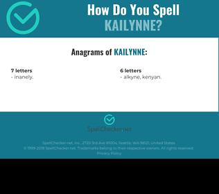 Correct spelling for Kailynne