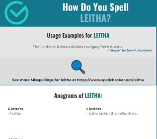 Correct spelling for Leitha