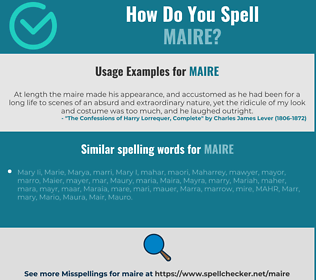 Correct spelling for Maire