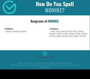 Correct spelling for Monike