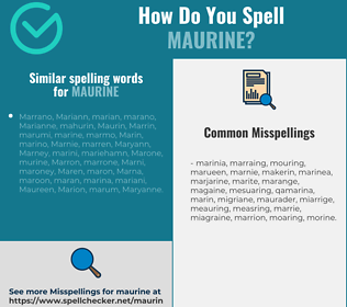 Correct spelling for Maurine