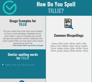 Correct spelling for Tillie