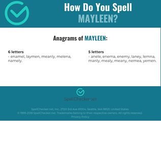 Correct spelling for Mayleen