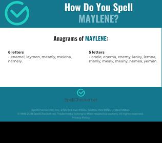 Correct spelling for Maylene
