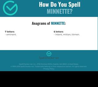 Correct spelling for Minnette