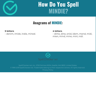 Correct spelling for Mindie