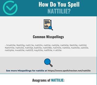 Correct spelling for Nattilie
