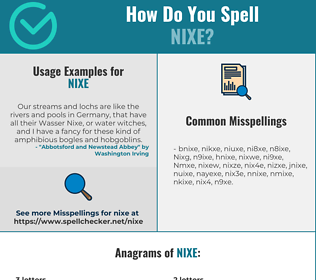 Correct spelling for Nixe