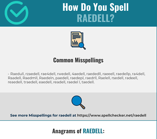 Correct spelling for Raedell