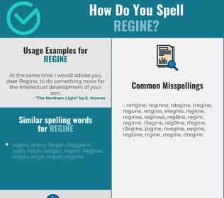 Correct spelling for Regine