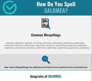 Correct spelling for Salomea
