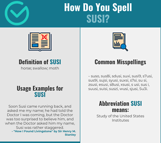 Correct spelling for Susi