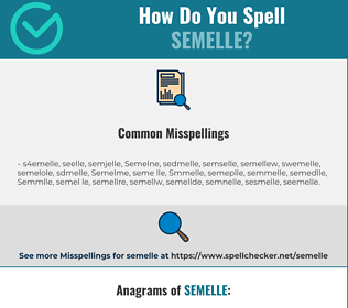 Correct spelling for Semelle