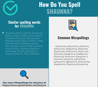 Correct spelling for Shaunna