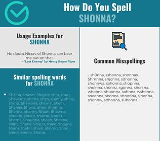 Correct spelling for Shonna