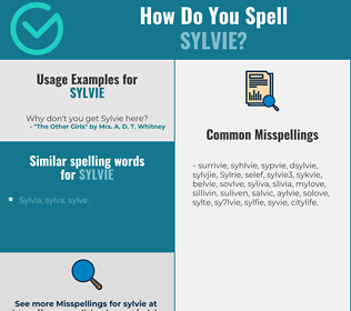 Correct spelling for Sylvie