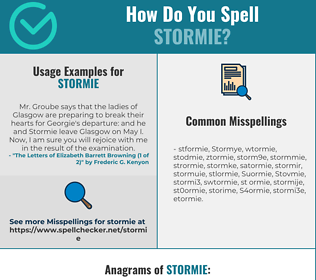 Correct spelling for Stormie