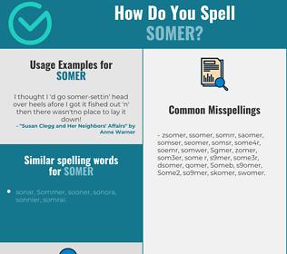 Correct spelling for Somer