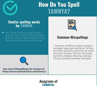 Correct spelling for Tawnya