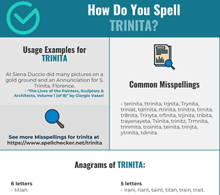Correct spelling for Trinita