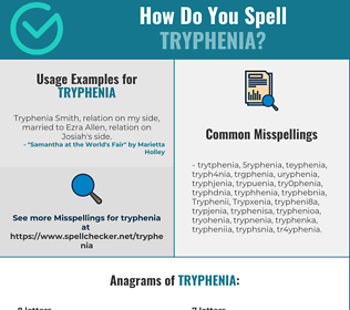 Correct spelling for Tryphenia