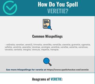 Correct spelling for Veretie