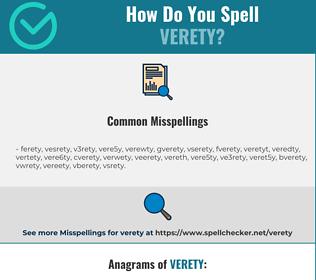 Correct spelling for Verety