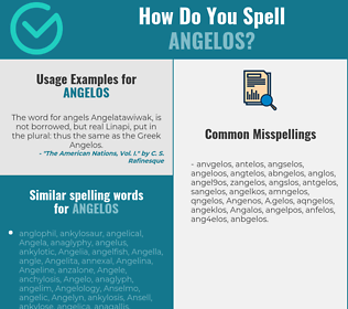 Correct spelling for Angelos