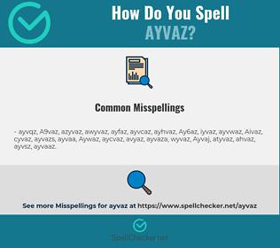Correct spelling for Ayvaz