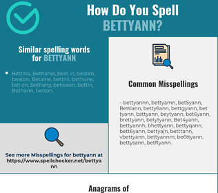 Correct spelling for Bettyann