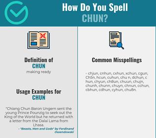 Correct spelling for Chun