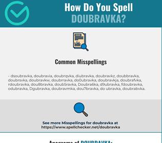 Correct spelling for Doubravka