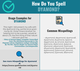 Correct spelling for Dyamond