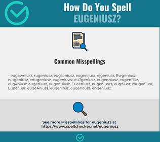 Correct spelling for Eugeniusz