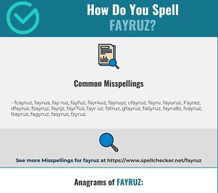 Correct spelling for Fayruz