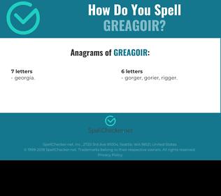 Correct spelling for Greagoir
