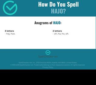 Correct spelling for Hajo