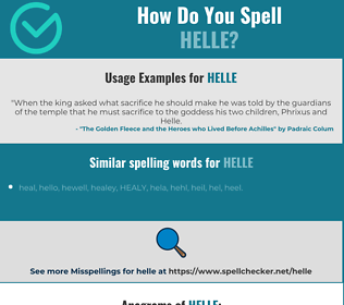 Correct spelling for Helle