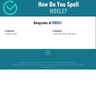 Correct spelling for Hoele