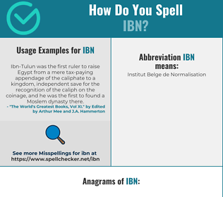 Correct spelling for Ibn